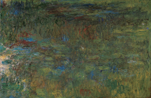 Art Prints of The Water Lily Pond, 1917, Tryptic III by Claude Monet