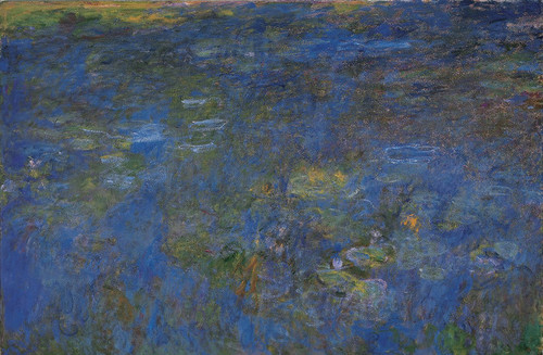 Art Prints of The Water Lily Pond, 1917, Tryptic I by Claude Monet