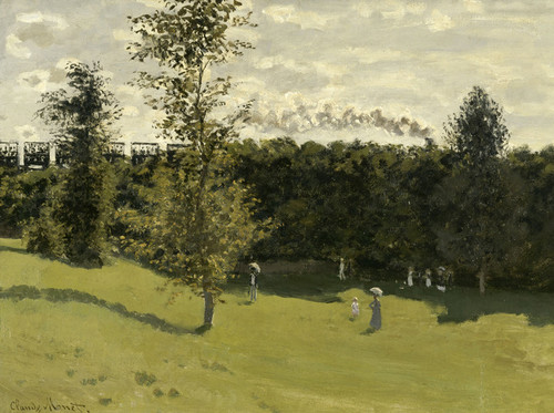 Art Prints of Train in the Countryside by Claude Monet