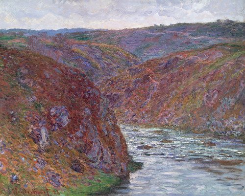 Art Prints of Valley of the Creuse, Grey Day by Claude Monet