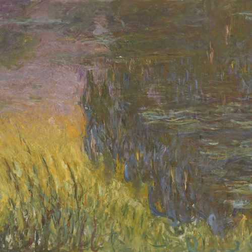 Art Prints of Water Lilies, Setting Sun, Tryptic II by Claude Monet