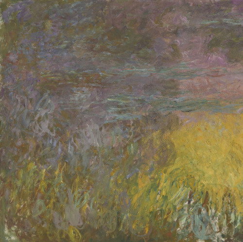 Art Prints of Water Lilies, Setting Sun, Tryptic I by Claude Monet