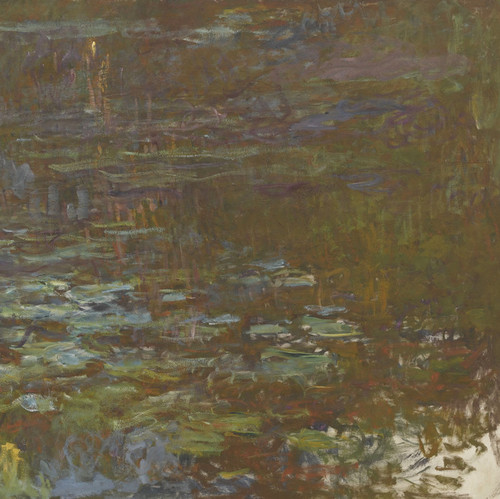 Art Prints of Water Lilies, Setting Sun, Tryptic III by Claude Monet