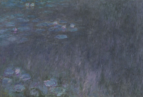 Art Prints of The Water Lilies, Tree Reflections, Tryptic I by Claude Monet