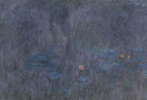 Art Prints of The Water Lilies, Tree Reflections, Tryptic II by Claude Monet