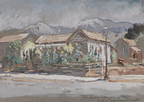 Art Prints of North Corner of Santa Barbara and Carillo Streets by Colin Campbell Cooper