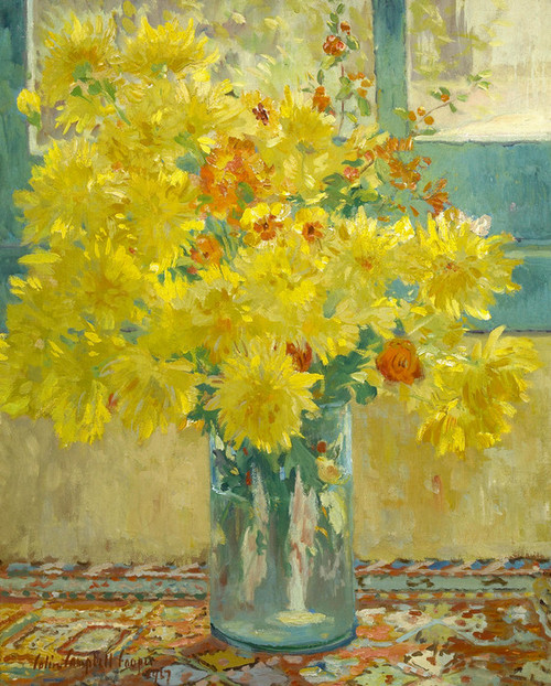 Art Prints of Yellow Chrysanthemums by Colin Campbell Cooper