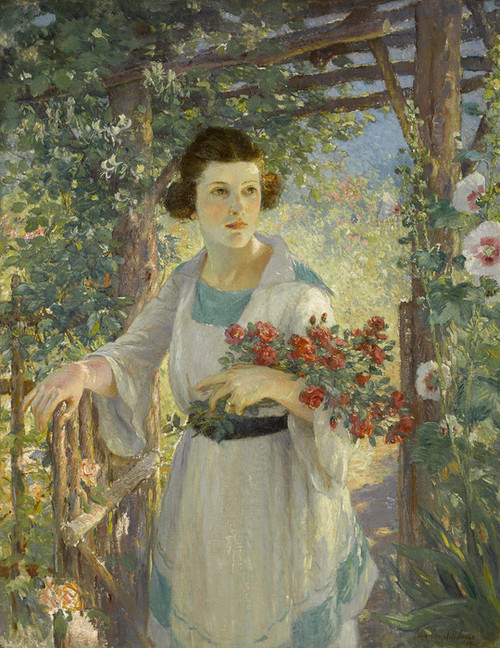 Art Prints of The Rustic Gate by Colin Campbell Cooper