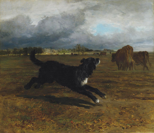 Art Prints of Herding Cattle Before the Storm by Constant Troyon