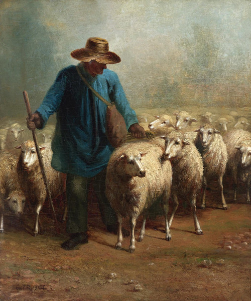 Art Prints of The Shepherd by Constant Troyon