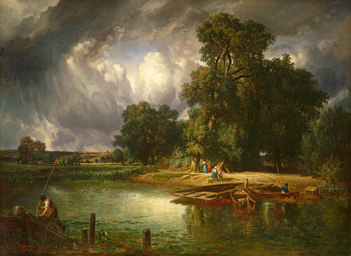 Art Prints of The Approaching Storm by Constant Troyon