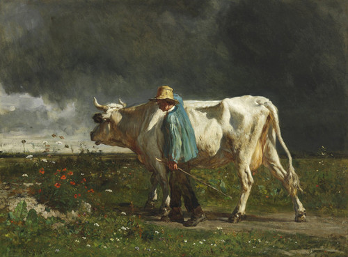 Art Prints of Cowherd by Constant Troyon