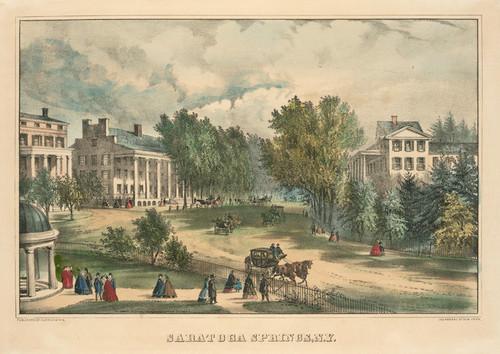 Art Prints of Saratoga Springs N.Y. by Currier & Ives