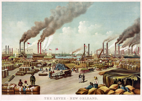 Art Prints of The Levee, New Orleans, 1884 by Currier & Ives
