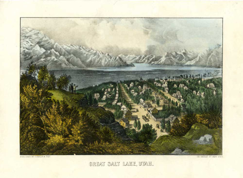 Art prints of Great Salt Lake Utah by Currier & Ives