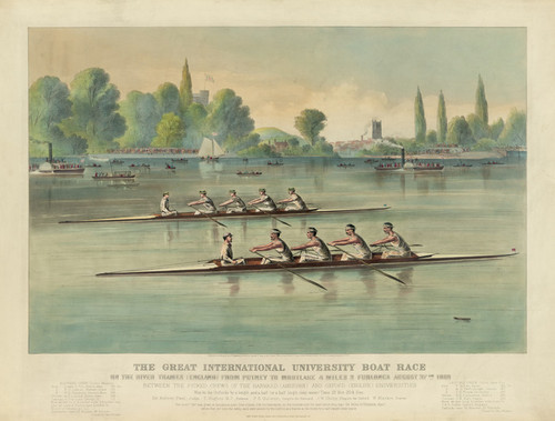 Art Prints of Great International Boat Race, 1869 by Currier & Ives