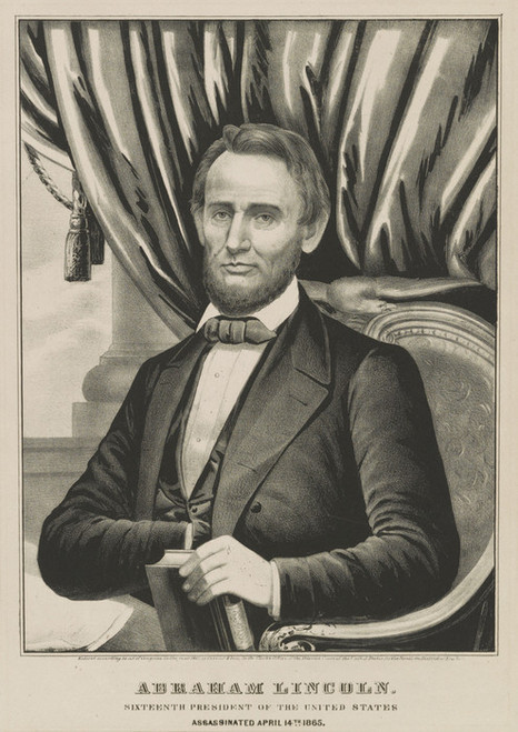 Art Prints of Abraham Lincoln, 16th President of the US by Currier & Ives
