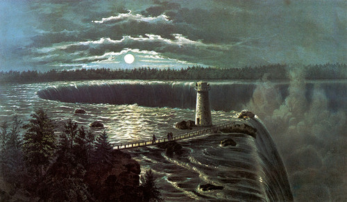 Art Prints of Niagara Falls by Moonlight by Currier & Ives