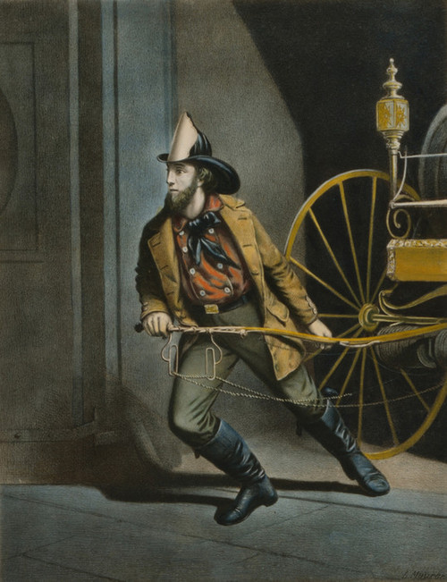 Art Prints of American Fireman, Always Ready by Currier & Ives and Louis Maurer