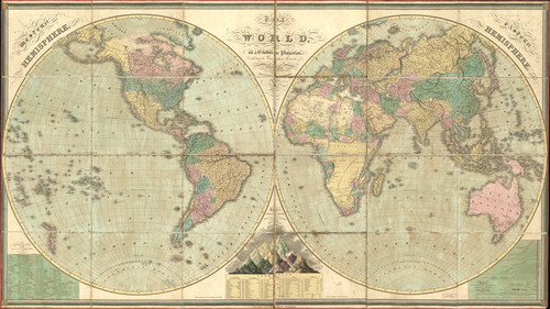 Art Prints of The World, 1826 by D.H. Vance