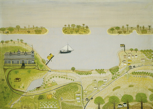 Art Prints of Southern Resort Town by Dana Smith