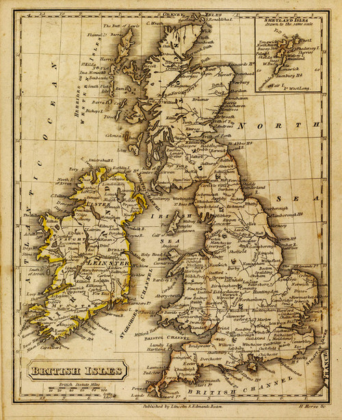 Art Prints of British Isles, 1832 (0006008) by Daniel Adams