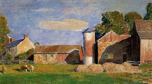 Art Prints of A Solebury Farm by Daniel Garber