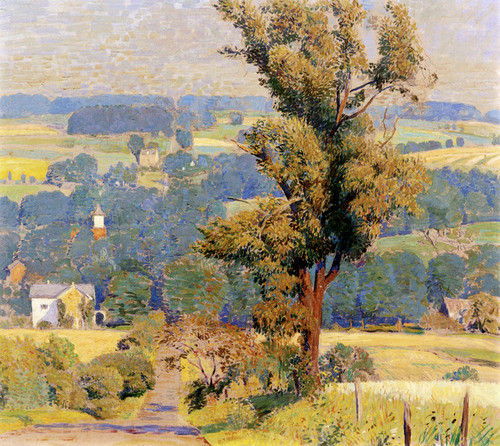 Art Prints of Down Through Carversville by Daniel Garber