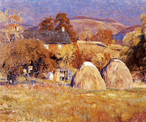 Art Prints of Haystacks, Kintnersville by Daniel Garber