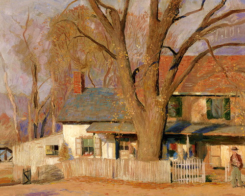 Art Prints of House at Brownsburg by Daniel Garber