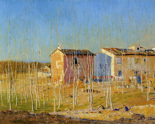 Art Prints of Houses of Cantadini by Daniel Garber