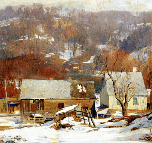 Art Prints of Late Snow, Byram by Daniel Garber