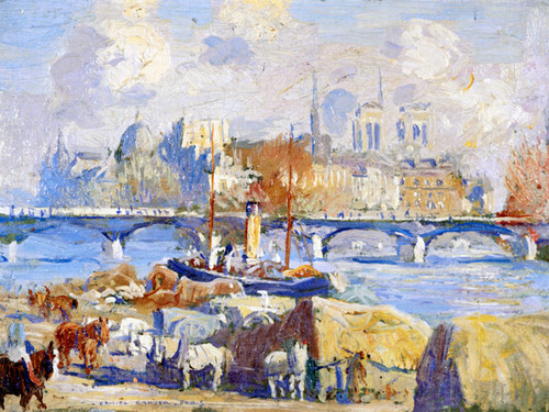 Art Prints of Sketch of the Seine by Daniel Garber