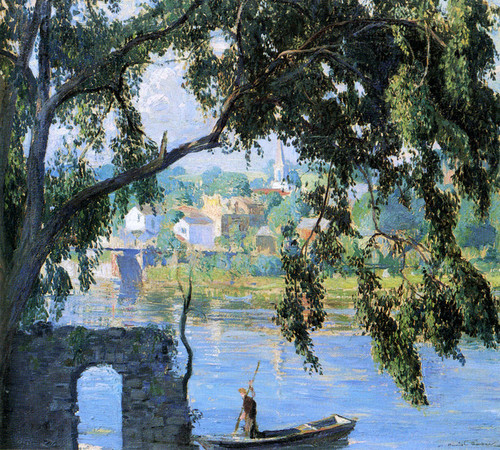 Art Prints of The Boatman by Daniel Garber