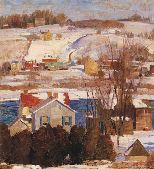 Art Prints of Winter in New Hope by Daniel Garber