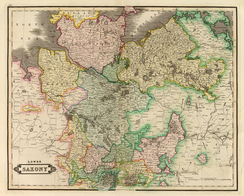 Art Prints of Lower Saxony, 1831 (0436025) by Daniel Lizars