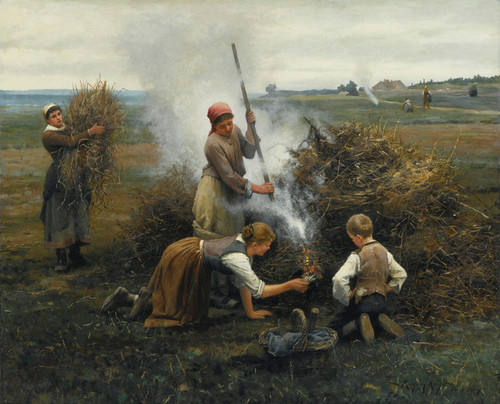 Art Prints of Burning Brush by Daniel Ridgway Knight