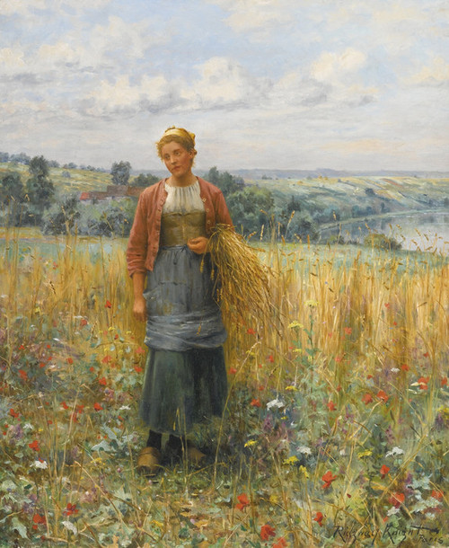 Art Prints of Jeannie Gleaning by Daniel Ridgway Knight
