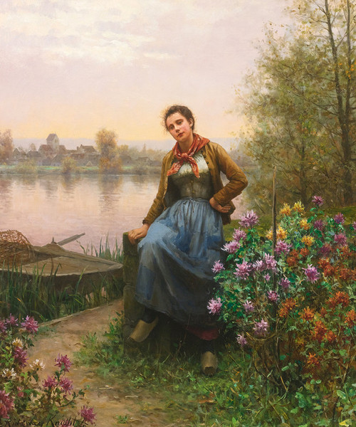Art Prints of On the River's Edge by Daniel Ridgway Knight