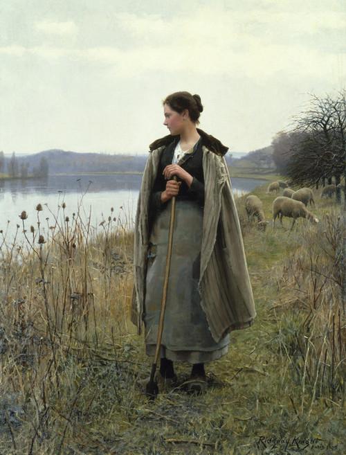 Art Prints of The Shepherdess of Rolleboise by Daniel Ridgway Knight