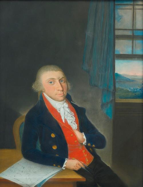 Art Prints of Portrait of an American Sea Captain, American School