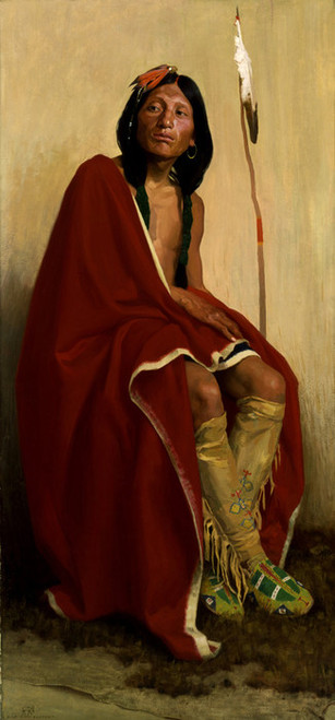 Art Prints of Elk Foot of the Taos Tribe by Eanger Irving Couse
