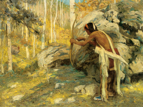 Art Prints of Hunting the Turkey in the Aspens by Eanger Irving Couse