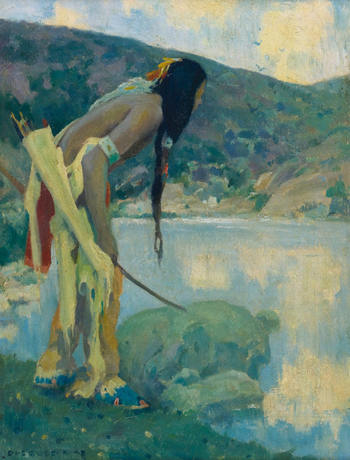 Art Prints of Indian Hunter, Late Afternoon, Hondo by Eanger Irving Couse