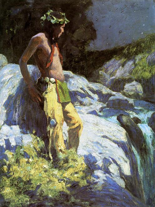 Art Prints of Moonlit Falls by Eanger Irving Couse