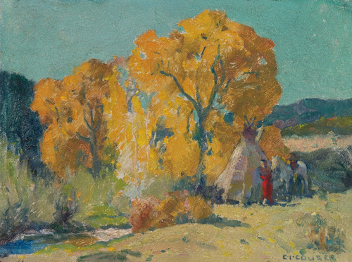 Art Prints of Taos, Canyon Camp by Eanger Irving Couse