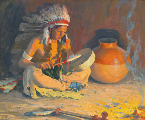 Art Prints of The Chief's Song by Eanger Irving Couse