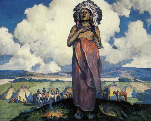 Art Prints of The Chief by Eanger Irving Couse