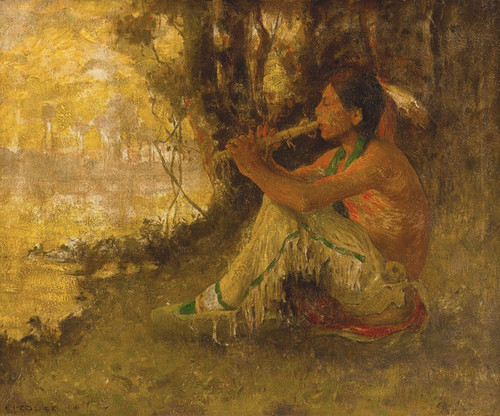 Art Prints of The Flute Player by Eanger Irving Couse
