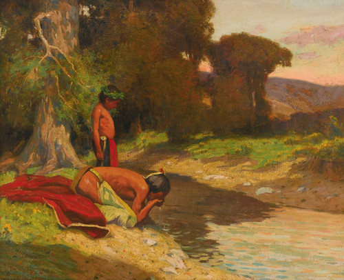 Art Prints of The Cooling Stream by Eanger Irving Couse